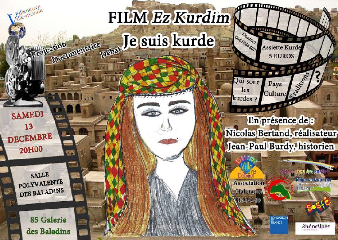 Soirée «Je suis kurde» le 13 décembre