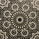 Une des photos d'arabesques présentées par M. Thalal. Les lignes de symétries sont facilement identifiables (photo : Noue-Eddine Beradai)