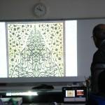 Les symétries se retrouvent aussi dans les calligraphies arabes, qui deviennent une façon détournée de représenter des personnes (photo : Nour-Eddine Beradai)