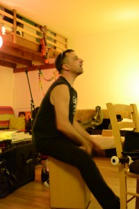 Christophe Sacchettini fait partie de plusieurs groupes de musique traditionnelle (photo : BB).