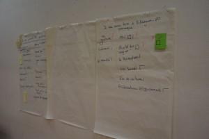 Le résultat des questions d'introduction de l'atelier sur la vie quotidienne. (photo : BB).