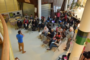 Habitants et acteurs culturels réunis pour proposer des avancées dans le domaine de la culture. (photo : BB).