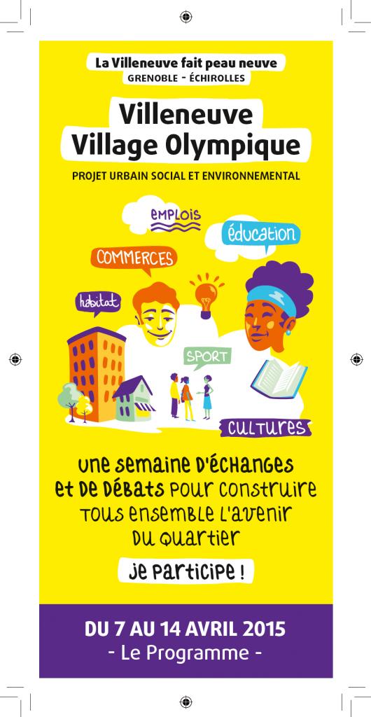 Le programme de la semaine édité par la ville de Grenoble et par la Métro.