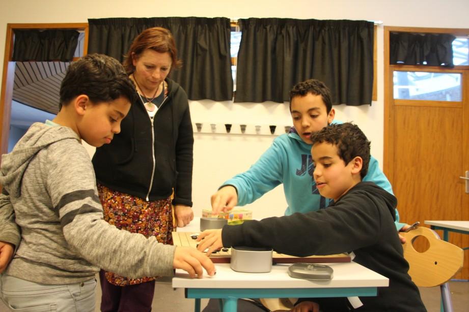 Marwan, Ahmed-Bilal et Ismaël, le go se joue en famille