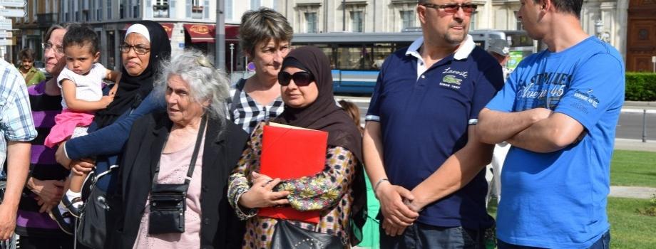 Rassemblement contre l'expulsion d'une famille de la Villeneuve