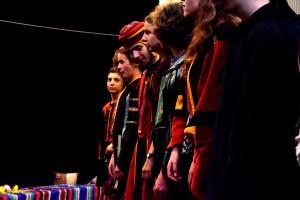Les effectifs de la troupe tournent autour d'une quinzaine de jeunes comédiens. (photo : BB)