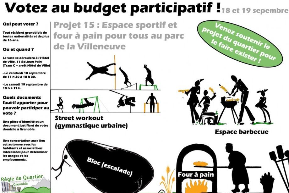 Votez pour un espace sportif et des fours à pain collectifs dans le parc
