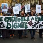 Les Grenoblois à la marche de la dignité et contre le racisme, à Paris, le 31 octobre 2015. (photo : BB)
