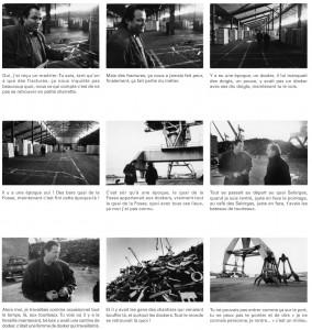 Exemple d'itinéraire réalisé par Jean-Yves Petiteau, en 1991, avec le docker Dany Rose, à Nantes.