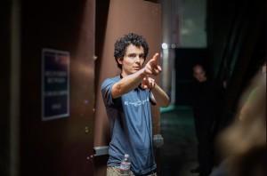 Damien Chazelle sur le tournage de Whiplash. (photo : producteurs de Whiplash)