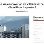 Une pétition contre les démolitions