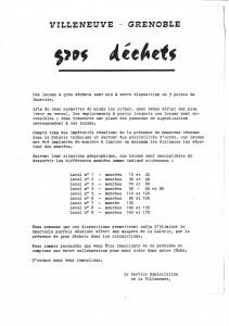Tract annonçant la mise en place de containers pour ramasser les déchets (non-daté, sans doute en 1975, archives municipales de Grenoble)