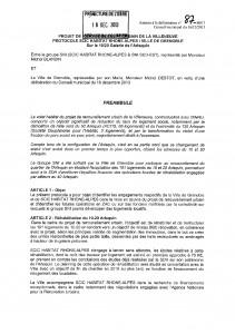 Convention passée entre la Ville de Grenoble et SCIC Habitat pour la rénovation du 10-20.
