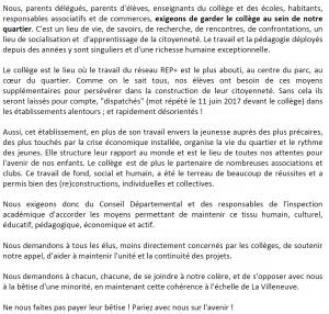 pétition_collège