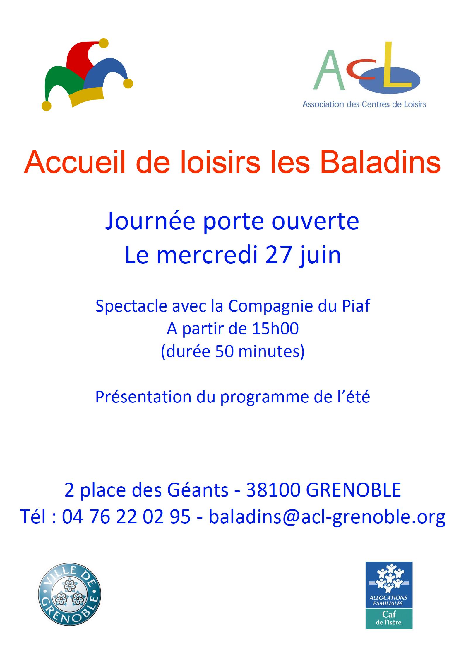 Portes ouvertes et spectacle au centre de loisirs Baladins @ Centre de loisirs des Baladins