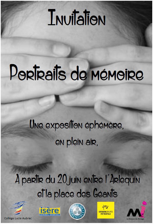 """Exposition éphémère """"Portraits de mémoire"""" @ Entre le collège Lucie Aubrac (ancien) et le collège Lucie Aubrac (nouveau, ex collège des Saules)"""