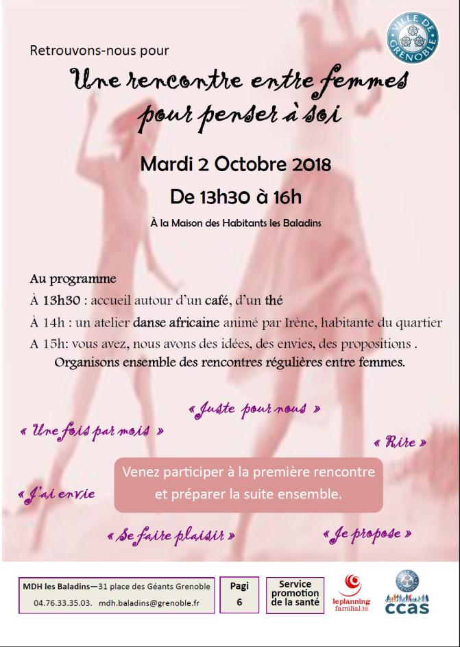 Rencontre/discussion entre femmes @ Maison des habitants des Baladins