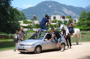 Tournage de La Légende de Kunta Kinte, en juillet 2018. (photo : Renaud Menoud, Les Films de la Villeneuve)