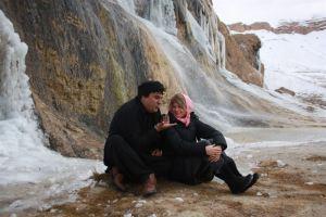 L'acteur Salim Saheen et la réalisatrice Sonia Kronlund (image extraite du film)