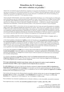 Tract du collectif contre les démolitions imposées proposant un avenant à la convention Anru.