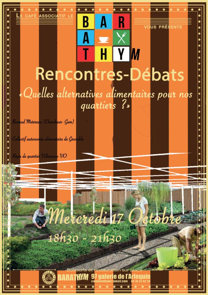 """Conférence """"Quelles alternatives alimentaires pour nos quartiers ?"""" @ Le Barathym"""