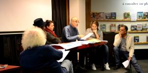 La troupe de lecture théâtralisée de l'Université populaire de la Villeneuve, jeudi 22 novembre. (photo : BB, Le Crieur de la Villeneuve)