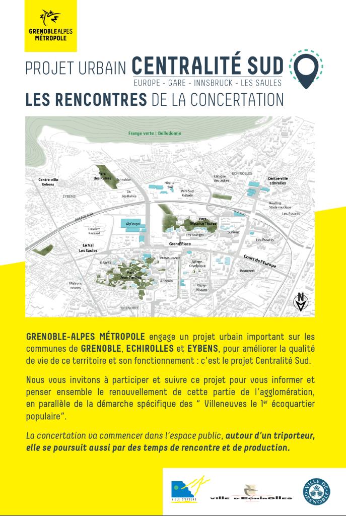 """Forum ouvert de concertation sur la """"centralité sud"""" @ Arrêt de tram Grand'Place"""