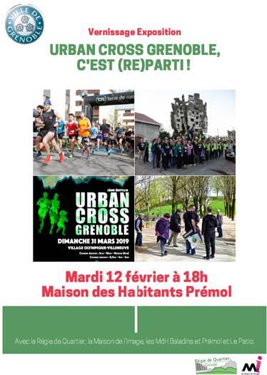 Vernissage de l'exposition Urban cross Grenoble, c'est (re)parti ! @ Maison des habitants Prémol