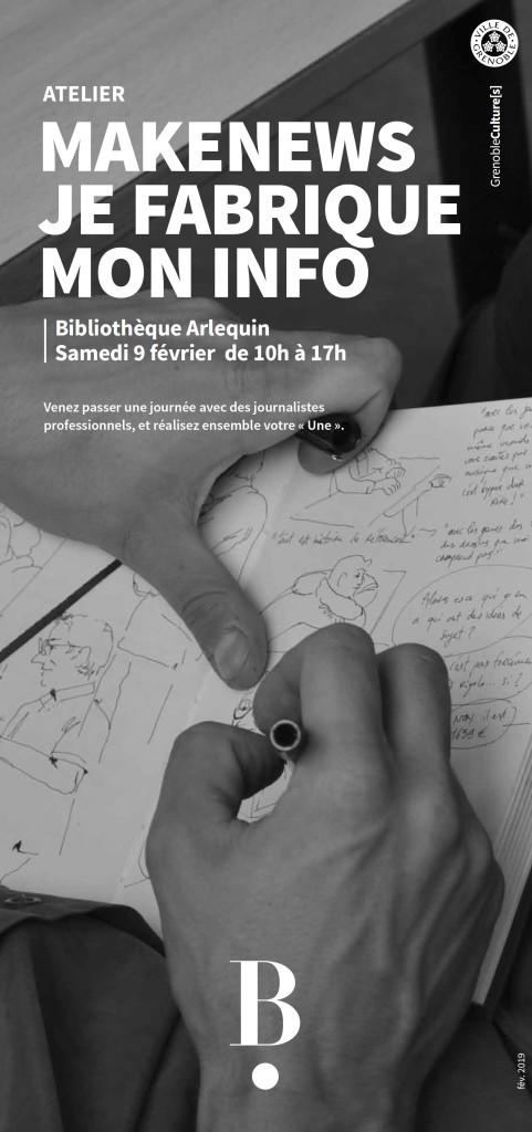 Atelier #Makenews - Je fabrique mon info @ Bibliothèque Arlequin