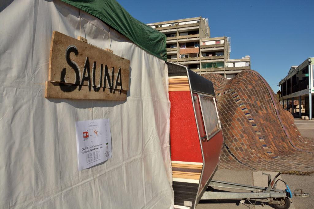 Oasîch : caravane-sauna et massage @ Devant le Patio