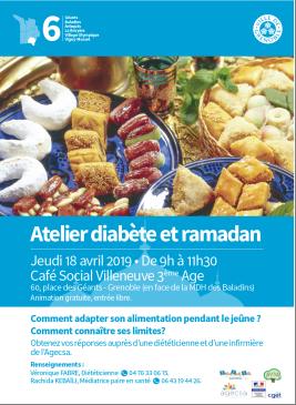 """Atelier """"diabète et ramadan"""" @ Café social Villenevue 3e âge"""
