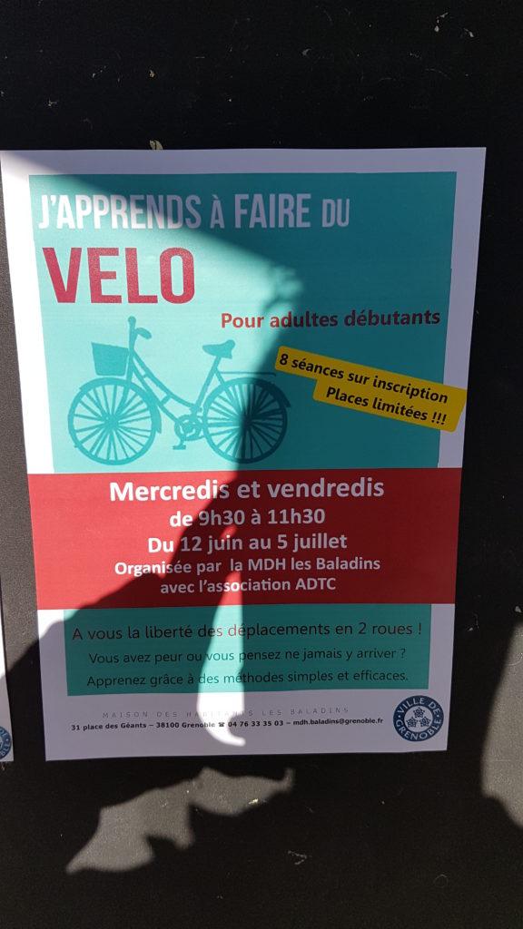 Atelier d'apprentissage du vélo @ Maison des habitants des Baladins