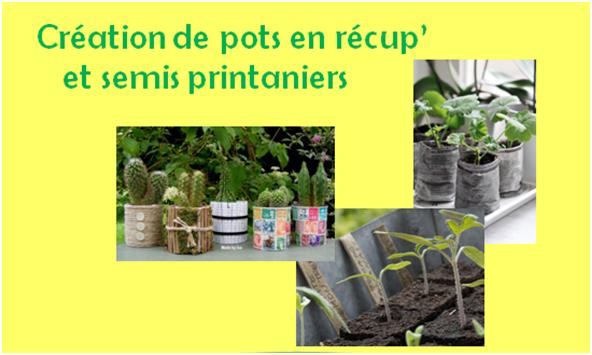 Atelier fabrication de pots et semis @ Pêle Mêle
