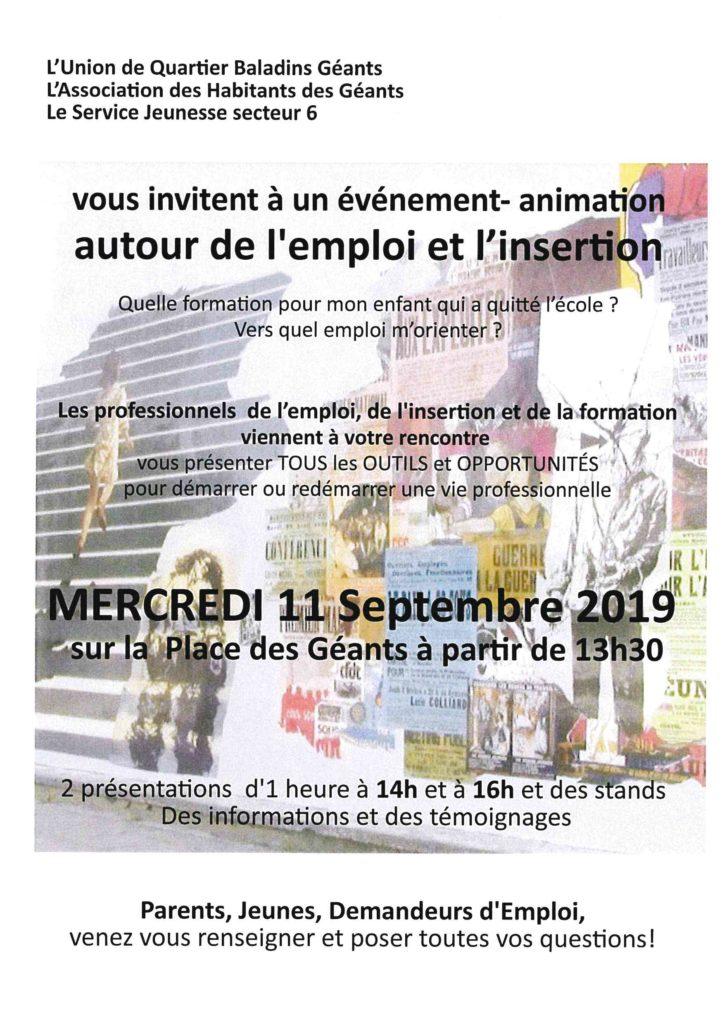 Mobilisation autour de l'emploi @ Place des Géants