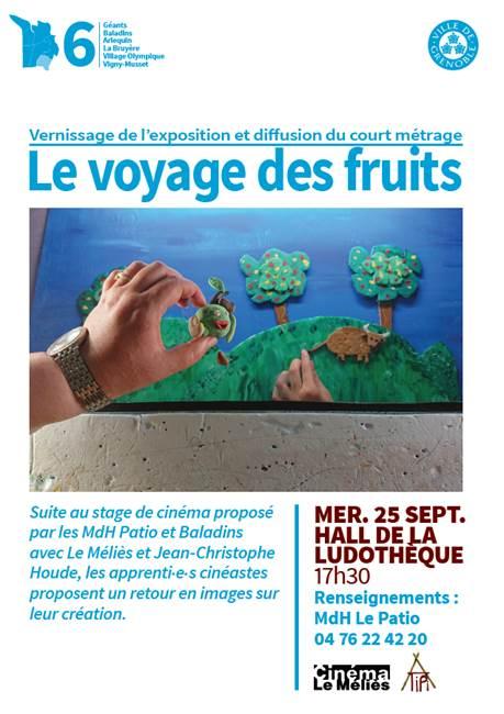 Vernissage de l'exposition Le Voyage des fruits @ Ludothèque Arlequin