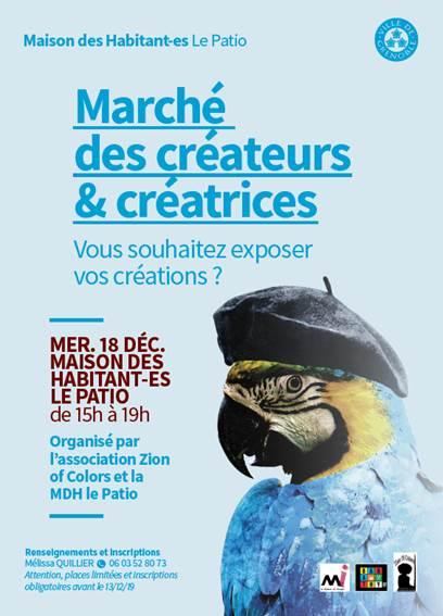 Marché des créateurs et créatrices de la Villeneuve @ Le Patio