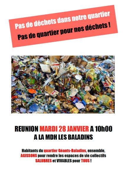 """Réunion du groupe de travail """"Poubelle la vie"""" @ Maison des habitants des Baladins"""