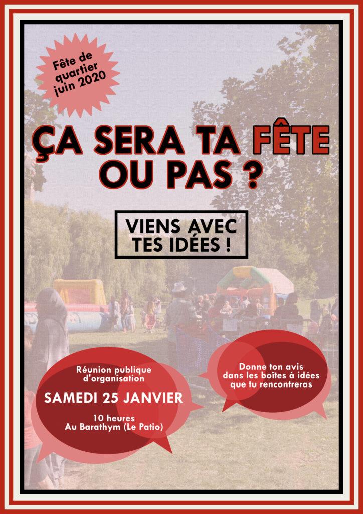 [Fête de quartier] Réunion participative d'organisation de la fête de quartier @ Le Barathym