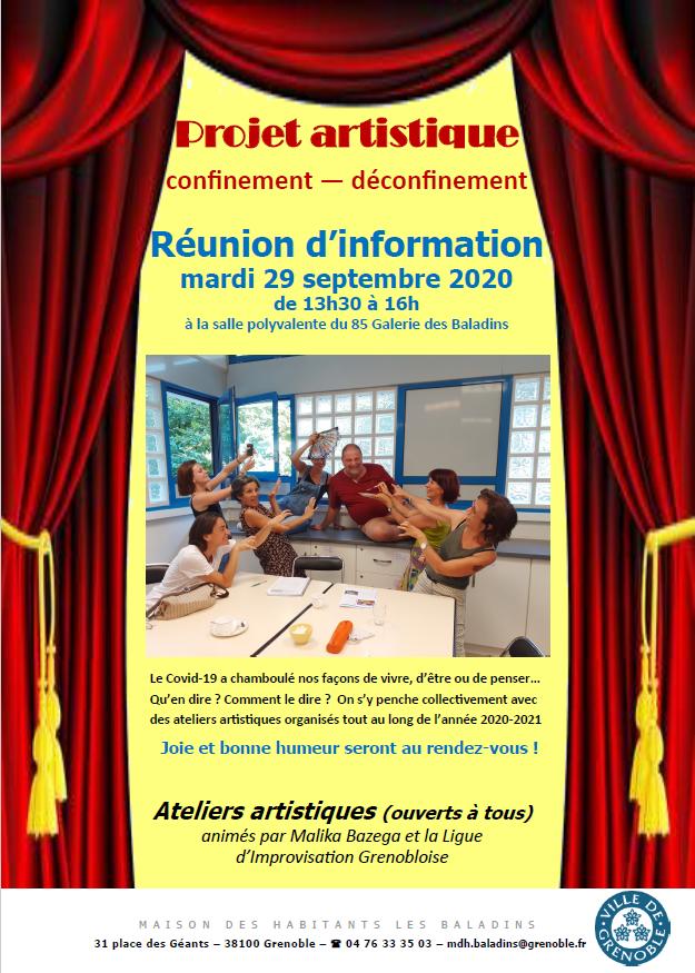 Réunion d'information de création d'un spectacle avec Malika Bazega @ Salle polyvalente des Baladins