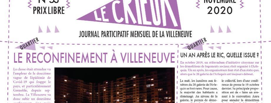 Lisez Le Crieur n° 53, novembre 2020