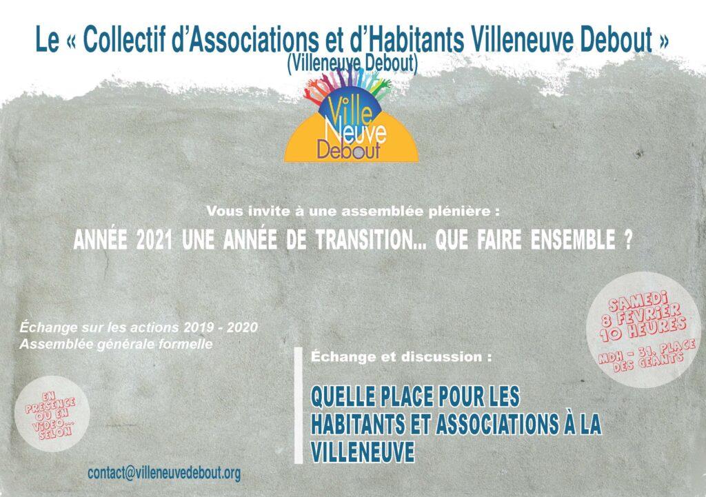 Assemblée plénière de Villeneuve Debout @ Place des Géants (devant la maison des habitants des Baladins)