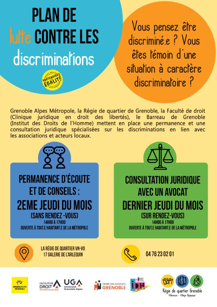 Permanence d'écoute sur les discriminations @ Régie de quartier Villeneuve - Village Olympique
