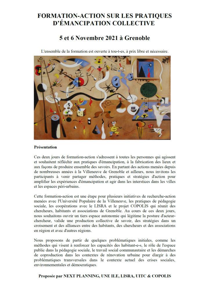 Formation-action sur les pratiques d'émancipation collective @ Villeneuve et Saint-Bruno