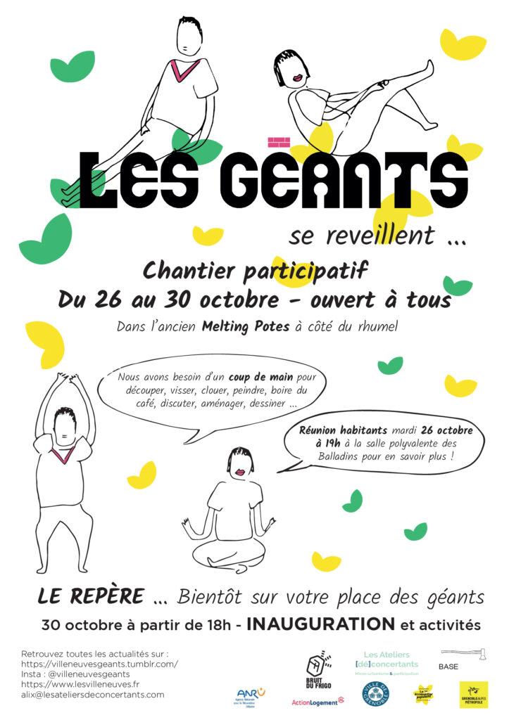 Réunion d'information sur l'aménagement de la place des Géants @ Salle polyvalente des Baladins